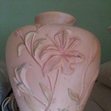 Antigüedades: LAMPARA DE PORCELANA DE MESA (GRANDE). Lote 138633986