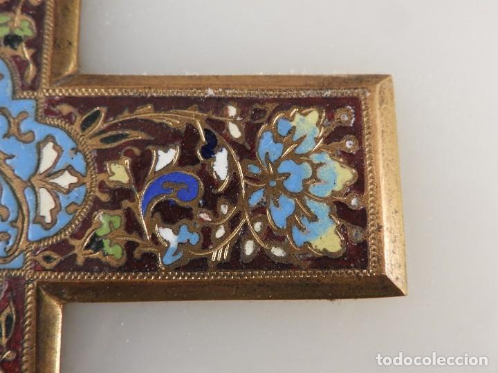 Antigüedades: BENDITERA ANTIGUA DE MARMOL Y BRONCE CLOISONNE - Foto 7 - 138648954