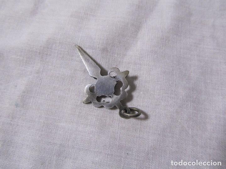 Antigüedades: Crucifijo de plata para colgar o rosario - Foto 3 - 138712978