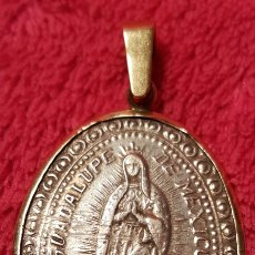 Antigüedades: ANTIGUA MEDALLA DE LA VIRGEN DE GUADALUPE 1804. Lote 138719237
