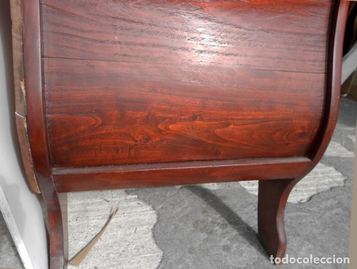 Antigüedades: SOFÁ ISABELINO EN MADERA DE CAOBA RUBIO - Foto 5 - 138728982