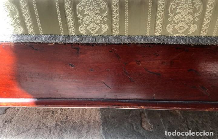 Antigüedades: SOFÁ ISABELINO EN MADERA DE CAOBA RUBIO - Foto 11 - 138728982