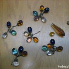 Antigüedades: ANTIGUA LAGRIMA DE LAMPARA DE CRISTAL ANTIGUA. Lote 138741578