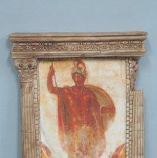 Antigüedades: PANEL DE YESO CON FRESCO DE POMPEYA. . Lote 138773422