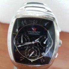 Relojes - Viceroy: RELOJ CABALLERO ACERO VICEROY CRONOGRAFO CUARZO CON CALENDARIO A LAS CUATRO, CORREA ACERO ORIGINAL. Lote 138757082