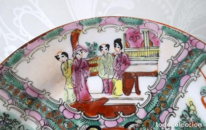 Antigüedades: PLATO CHINO DE PORCELANA-MACAO-PINTADO A MANO 225 CM - Foto 2 - 138795178