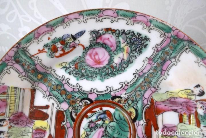 Antigüedades: PLATO CHINO DE PORCELANA-MACAO-PINTADO A MANO 225 CM - Foto 4 - 138795178
