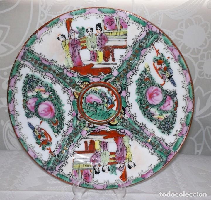 Antigüedades: PLATO CHINO DE PORCELANA-MACAO-PINTADO A MANO 225 CM - Foto 5 - 138795178