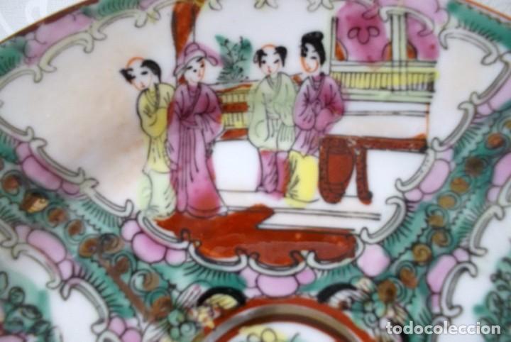 Antigüedades: PLATO CHINO DE PORCELANA-MACAO-PINTADO A MANO 225 CM - Foto 6 - 138795178