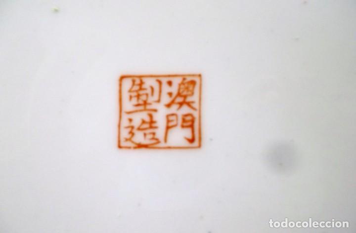 Antigüedades: PLATO CHINO DE PORCELANA-MACAO-PINTADO A MANO 225 CM - Foto 9 - 138795178
