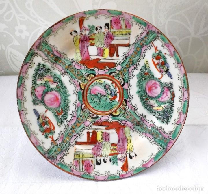 Antigüedades: PLATO CHINO DE PORCELANA-MACAO-PINTADO A MANO 225 CM - Foto 10 - 138795178