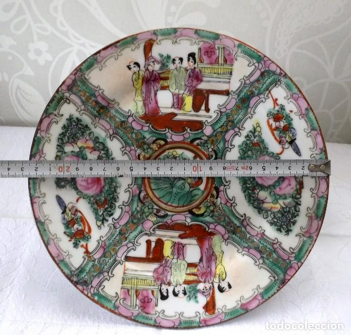 Antigüedades: PLATO CHINO DE PORCELANA-MACAO-PINTADO A MANO 225 CM - Foto 11 - 138795178