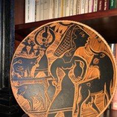 Antiguidades: PLATO ORIGINAL DE PEDRO MERCEDES. ALFARERÍA. TAUROMAQUIA.. Lote 138796666
