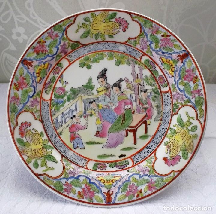 PLATO CHINO GRANDE-25'5 CM (Antigüedades - Porcelana y Cerámica - Japón)