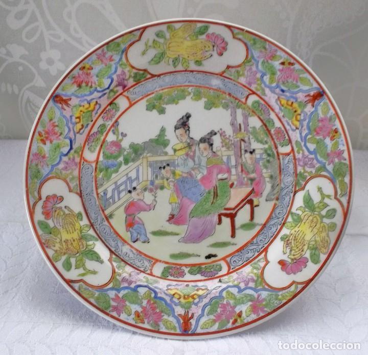 Antigüedades: PLATO CHINO GRANDE-25'5 CM - Foto 3 - 138797662