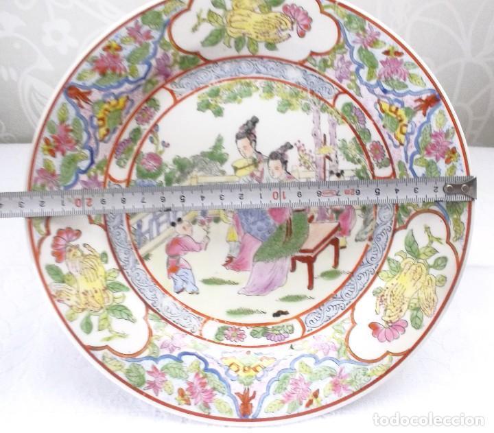 Antigüedades: PLATO CHINO GRANDE-25'5 CM - Foto 9 - 138797662