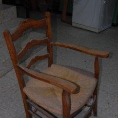 Antigüedades: SILLA SILLÓN CON ASIENTO DE ANEA O ENEA. Lote 138812418