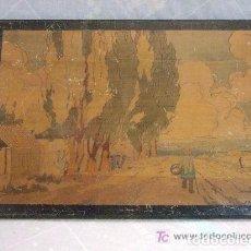 Antigüedades: PAISAJE PIROGRABADO FIRMADO L. MARINOT. Lote 138816442