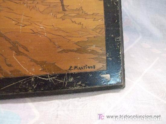 Antigüedades: PAISAJE PIROGRABADO FIRMADO L. MARINOT - Foto 2 - 138816442
