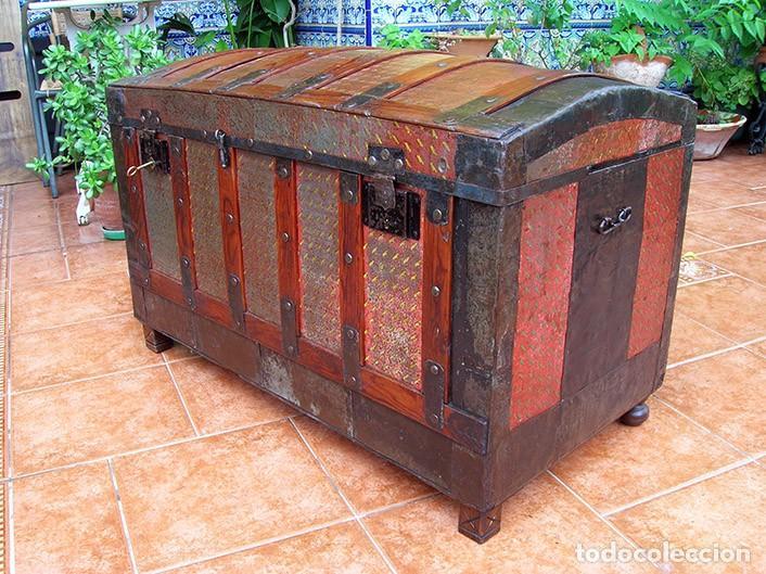 Antigüedades: BAÚL ARCA ANTIGUO - Foto 3 - 138817594