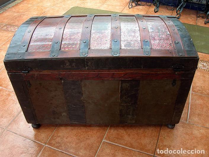 Antigüedades: BAÚL ARCA ANTIGUO - Foto 5 - 138817594