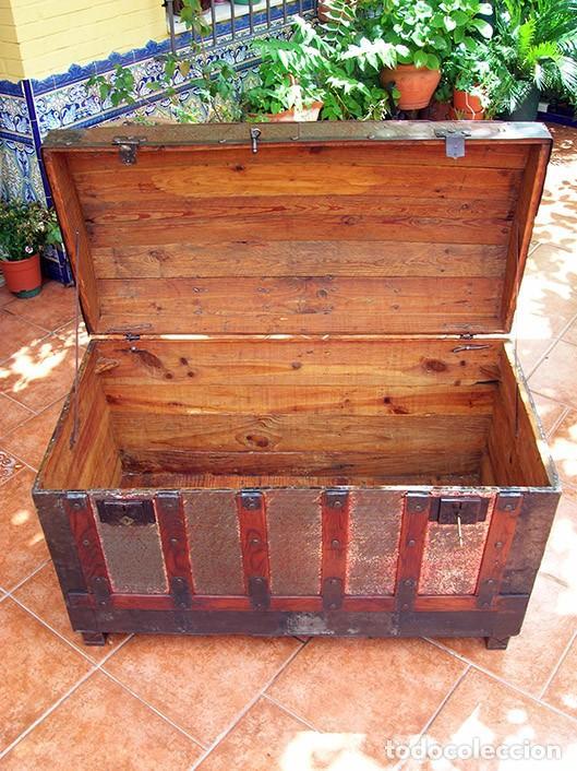 Antigüedades: BAÚL ARCA ANTIGUO - Foto 6 - 138817594