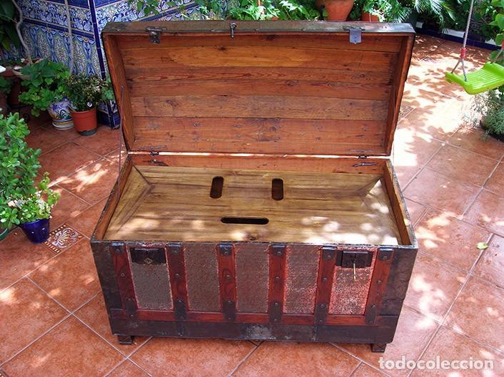 Antigüedades: BAÚL ARCA ANTIGUO - Foto 7 - 138817594