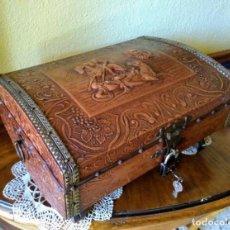 Antigüedades: BAÚL ARCA PEQUEÑA CAJA DE MÚSICA. Lote 138819326