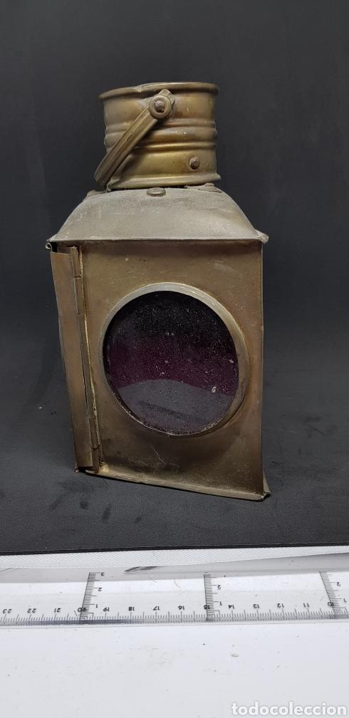 Antigüedades: Antiguo faro - tres colores - de mano - car123 - Foto 2 - 138826710