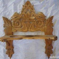 Antigüedades: ANTIGUA CANTARERA DE PARED TALLADA SIGLO XIX ZXY. Lote 138845366