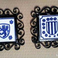 Antigüedades: ALAMBRILLA DE LATA Y AZULEJO. Lote 138856986