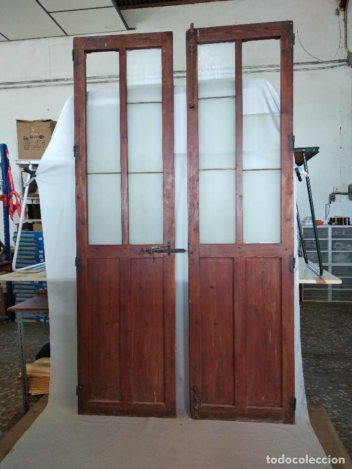 Pareja de antiguas puertas de paso, comedor, sa - Verkauft in ...