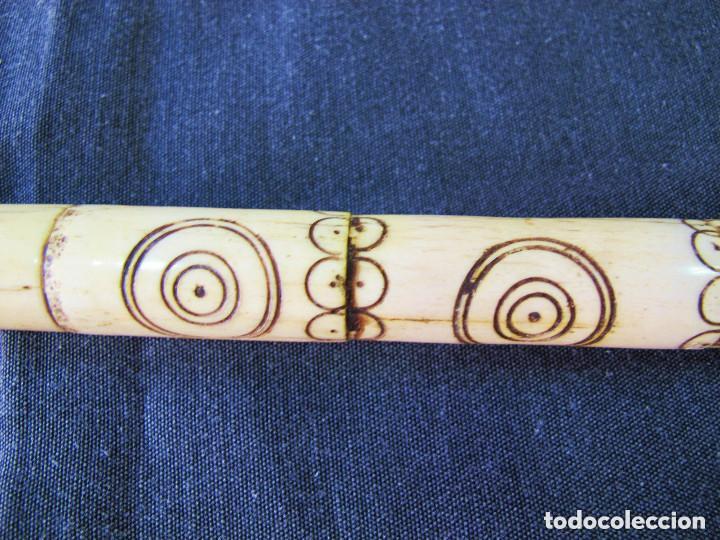 Antiquitäten: Precioso bastón de asta, metal y acero. - Foto 4 - 138898178