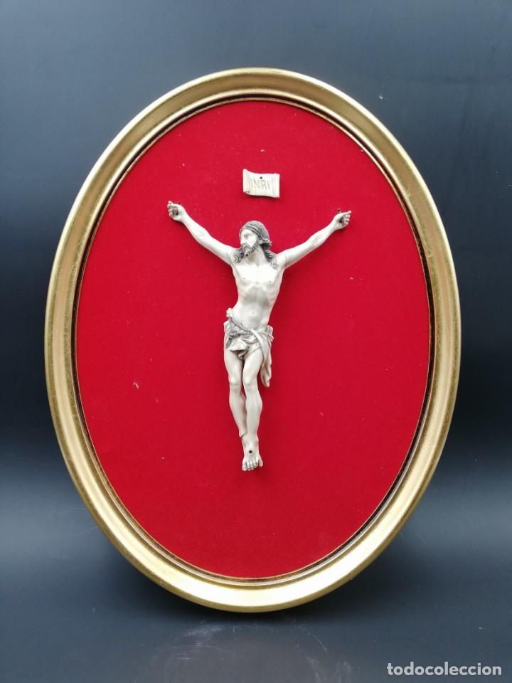 CRISTO MARFIL SIGLO XIX (Antigüedades - Religiosas - Crucifijos Antiguos)