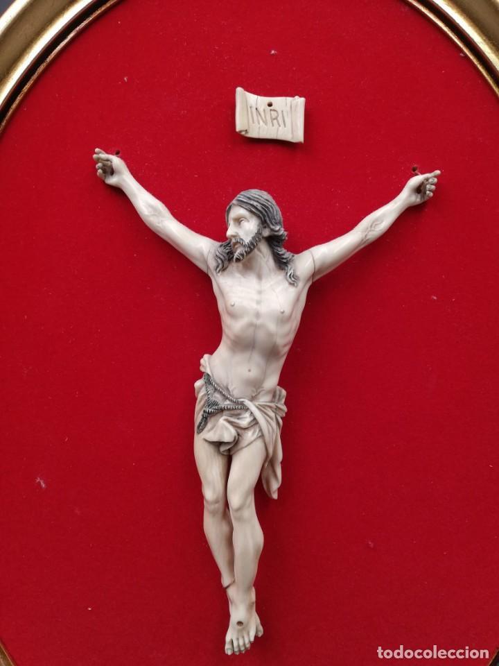 Antigüedades: CRISTO MARFIL SIGLO XIX - Foto 2 - 195171021