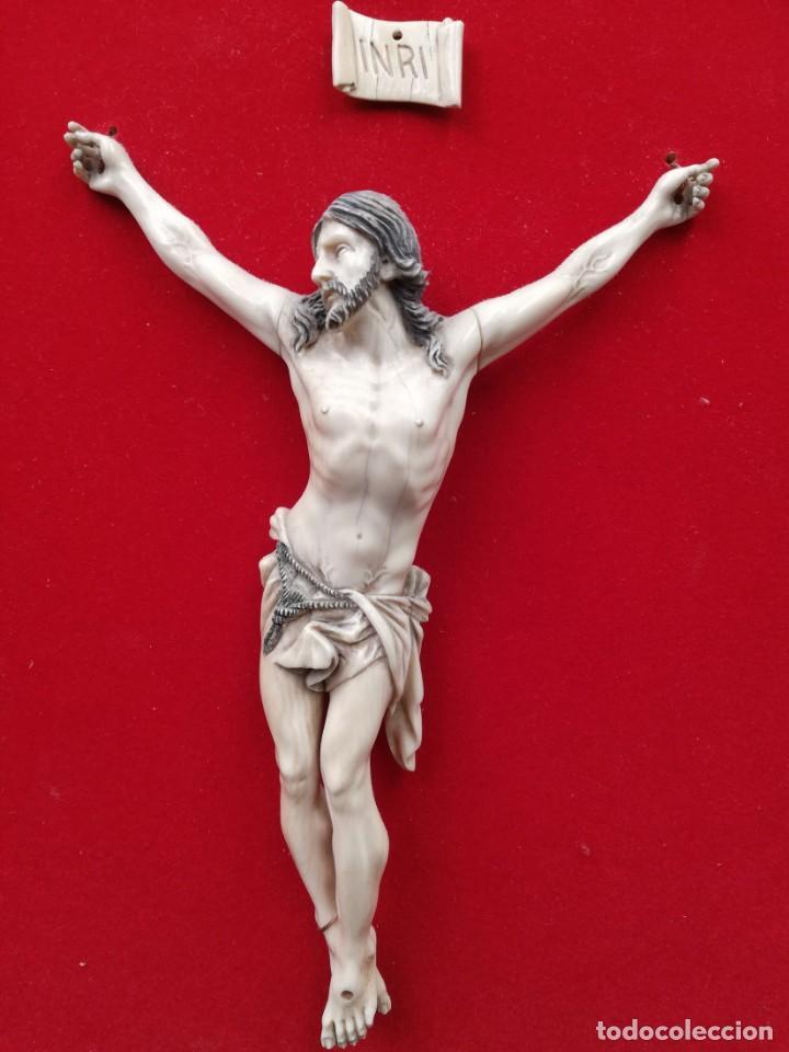 Antigüedades: CRISTO MARFIL SIGLO XIX - Foto 3 - 195171021