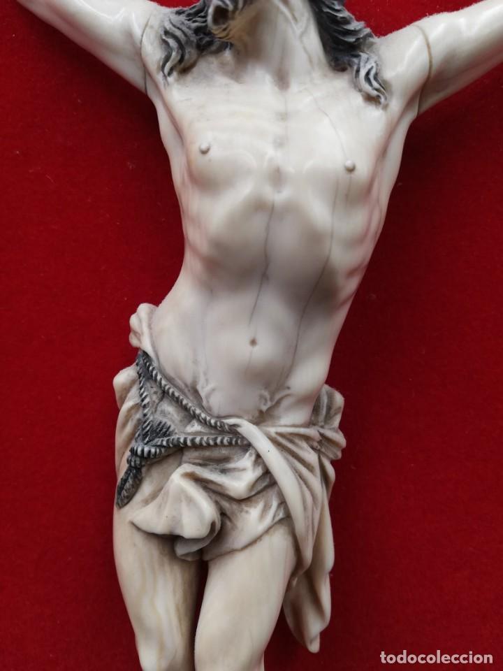 Antigüedades: CRISTO MARFIL SIGLO XIX - Foto 5 - 195171021