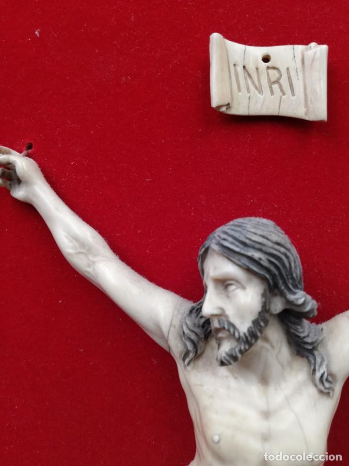 Antigüedades: CRISTO MARFIL SIGLO XIX - Foto 8 - 195171021