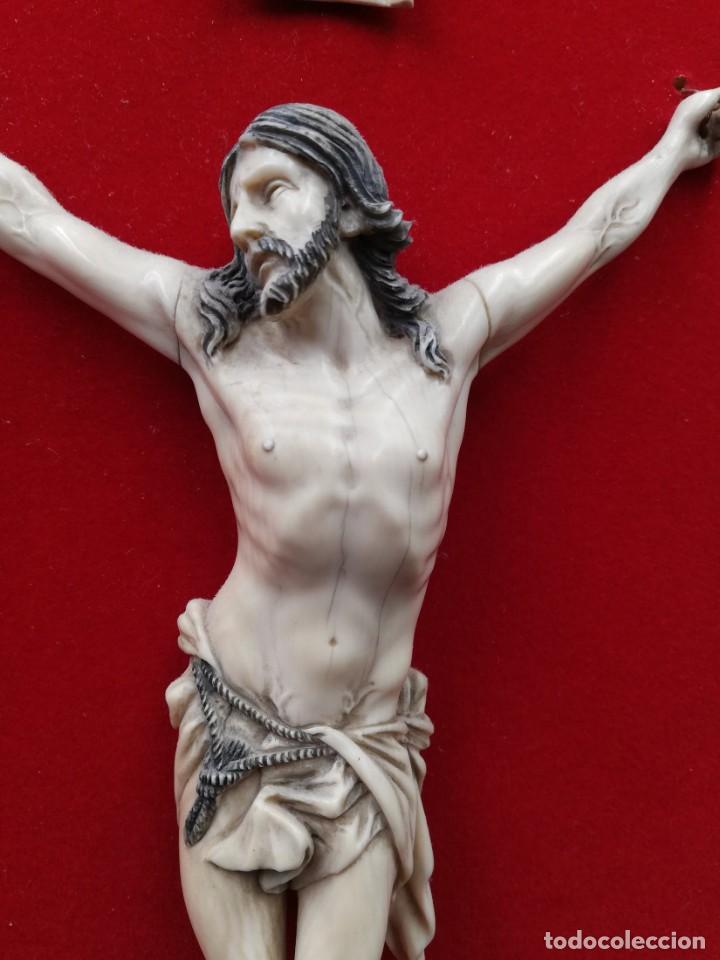 Antigüedades: CRISTO MARFIL SIGLO XIX - Foto 11 - 195171021