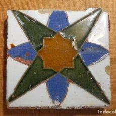 Antigüedades: OLAMBRILLA - RACHOLA - TACO - AZULEJO - ESTRELLA DE LOS VIENTOS 7 X 7 CM. Lote 138905098
