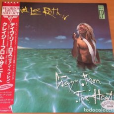 Discos de vinilo: PROMO DAVID LEE ROTH – CRAZY FROM THE HEAT - MAXISINGLE JAPON. Lote 138927882
