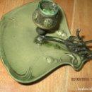 Antigüedades: ANTIGUO CANDELABRO BRONCE MODERNISTA . Lote 138931466