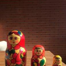 Antiquités: MATRIOSKAS JUEGO DE 3. Lote 138936970