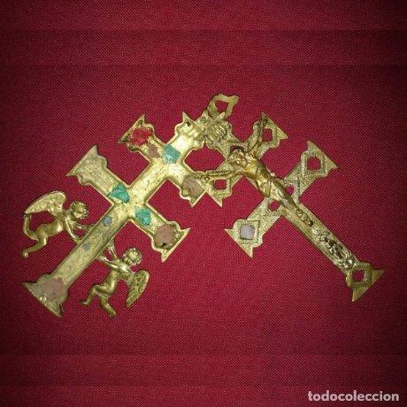 Antigua Cruz de Caravaca abierta 15cm peso 222 gramos