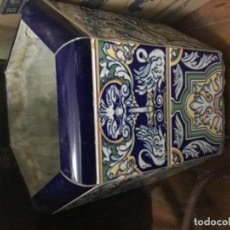 Antigüedades: JARDINERA CON RUEDAS . Lote 138947422