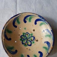 Antigüedades: ANTIGUO LEBRILLO ESCURRIDOR FAJALAUZA. Lote 138947472