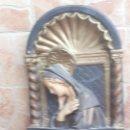 Antigüedades: ANTIGUA FIGURA O ESCUDO EN ESCAYOLA DE LA VIRGEN MARIA. Lote 138973066