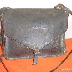 Antigüedades: MORRAL MOCHILA DE MATERIAL. VACUNO. Lote 138981942