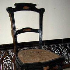 Antigüedades: SILLA ANTIGUA DE MADERA Y REJILLA. Lote 138984070