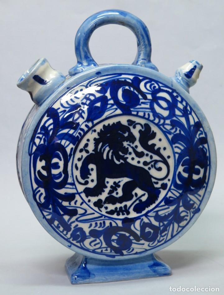 BOTIJO DE CERAMICA. MANISES. FINALES SIGLO XIX-PPIOS. SIGLO XX (Antigüedades - Porcelanas y Cerámicas - Manises)